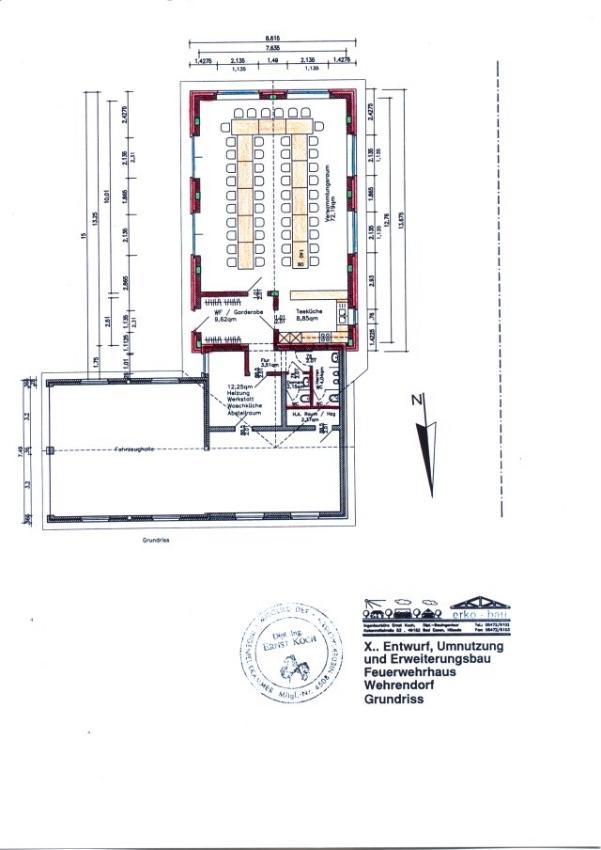 anbau des feuerwehrhaus wehrendorf. Black Bedroom Furniture Sets. Home Design Ideas